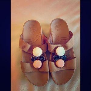 Fit flop stone embellished slides/ sandals!